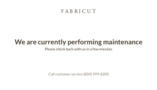 We are currently performing maintenance